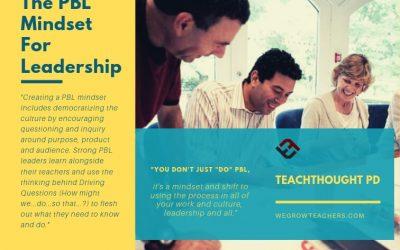 The PBL Mindset For Leadership