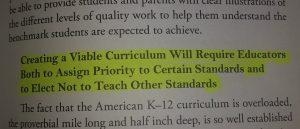 not teach standards