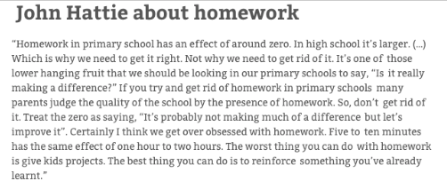About homework