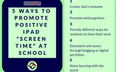 """5 Ways To Promote Positive iPad """"Screen Time"""" At School"""