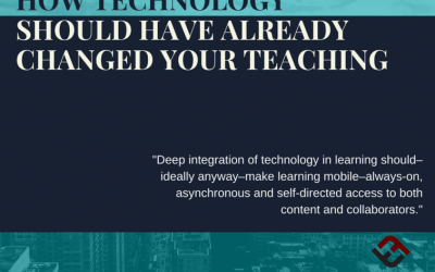 How Technology Should Have Already Changed Your Teaching