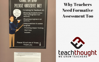 Why Teachers Need Formative Assessment Too