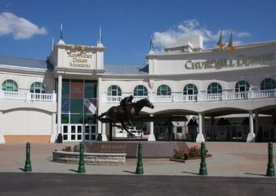 Entrances to Kentucky Derby Museum and Churchill Downs