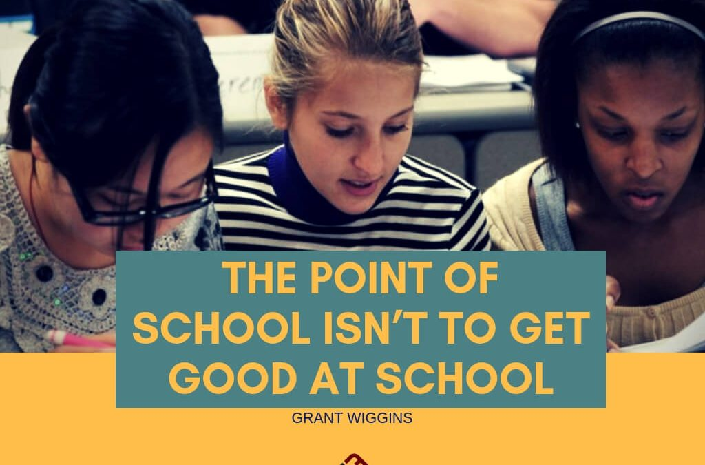 The Point Of School Isn't To Get Good At School