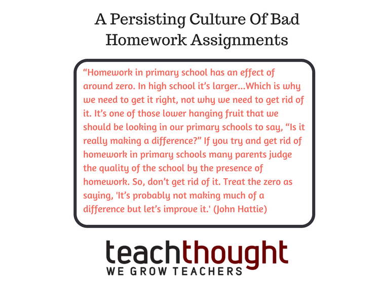 Education & Our Strange Culture Of Bad Homework Assignments