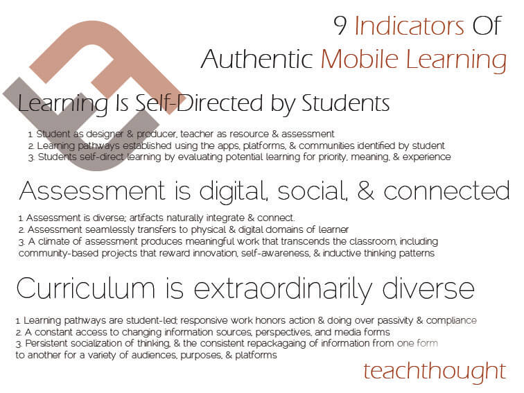 9 Indicators Of Authentic Mobile Learning