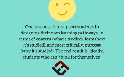 The First Step In Teaching Students To Think For Themselves