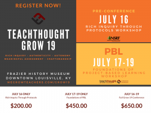 Register Now for TeachThought Grow 19!