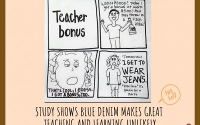 Study Shows Blue Denim Makes Great Teaching And Learning Unlikely