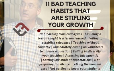 11 Bad Teaching Habits That Are Stifling Your Growth