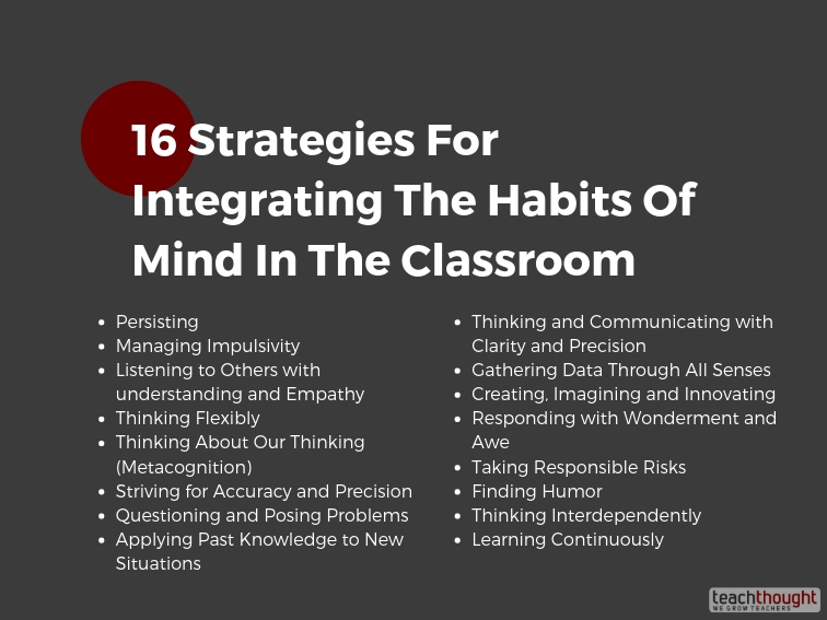 Integrating The Habits Of Mind In The Classroom