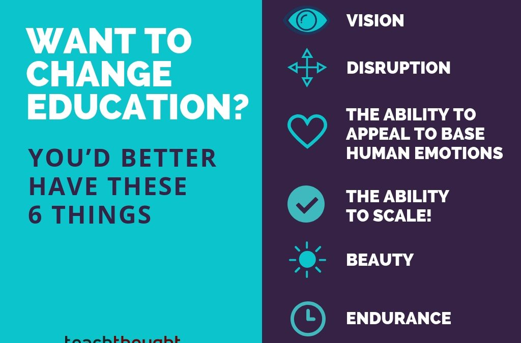 Want To Change Education? You'd better Have These 6 Things