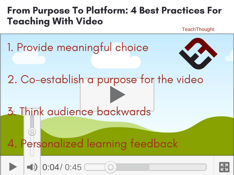From Purpose To Platform: 4 Best Practices For Teaching With Video