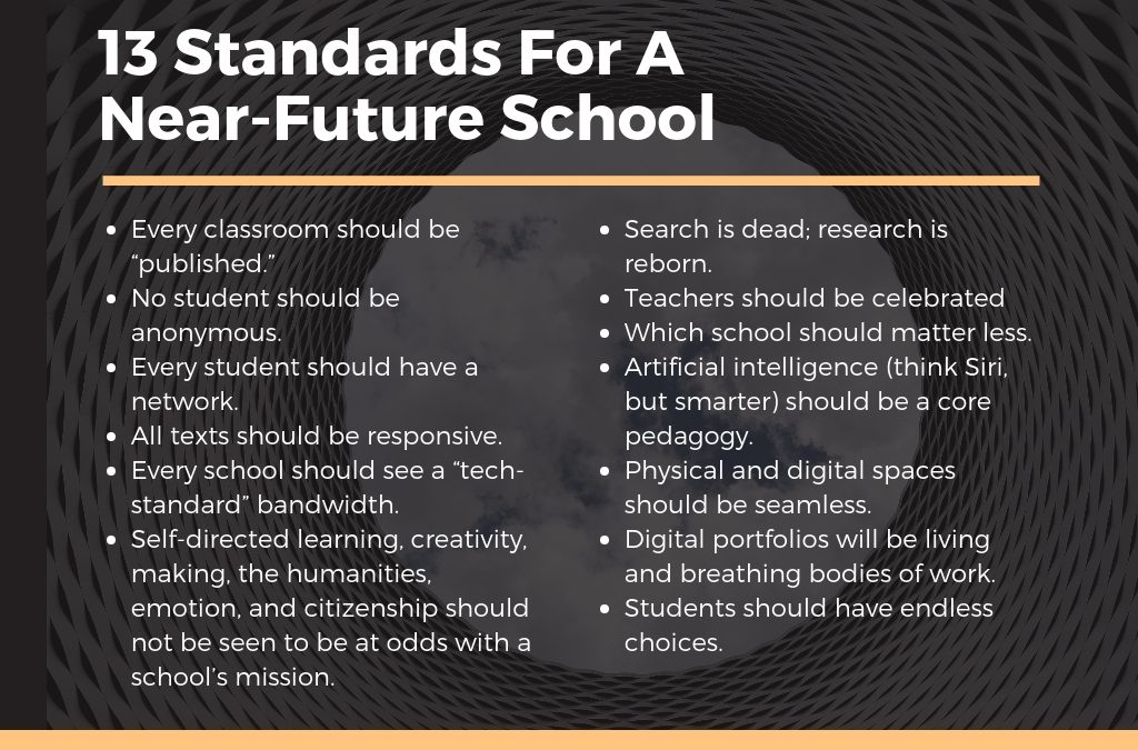 13 Standards For A Near-Future School