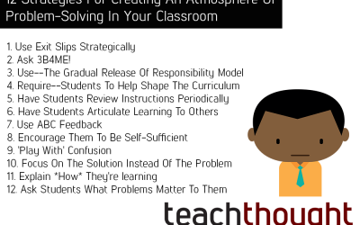 12 Strategies For Creating An Atmosphere Of Problem-Solving In Your Classroom