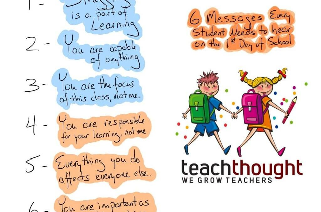 6 Messages Every Student Should Hear On The First Day Of School