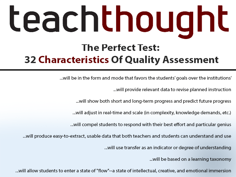 32 Characteristics Of The Perfect Test