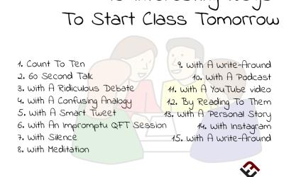 15 Interesting Ways To Start Class Tomorrow
