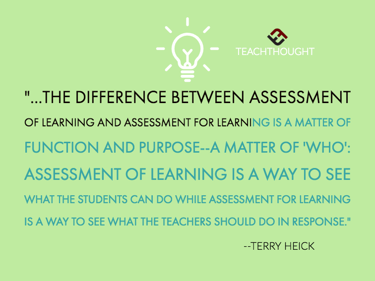 The Difference Between Assessment Of Learning And Assessment For Learning