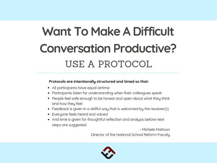 Want To Make A Difficult Conversation Productive? Use A Protocol
