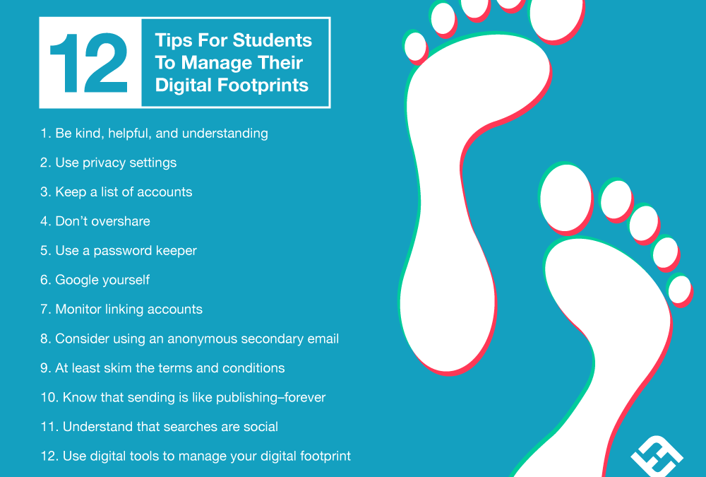 12 Tips For Students To Manage Their Digital Footprints