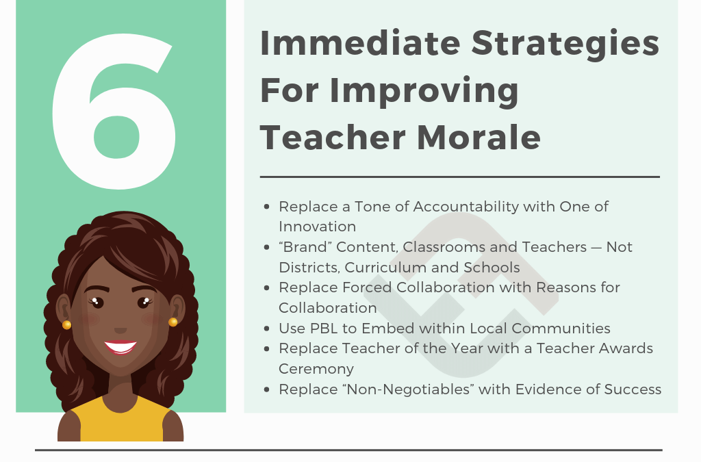 6 Immediate Strategies For Improving Teacher Morale