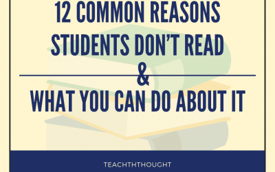 12 Common Reasons Students Don't Read & What You Can Do About It