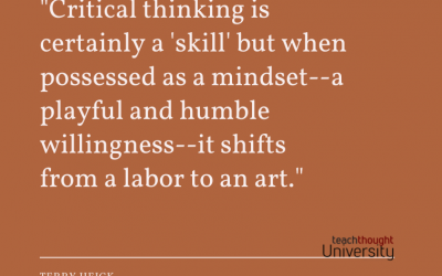 Critical Thinking Is A Mindset