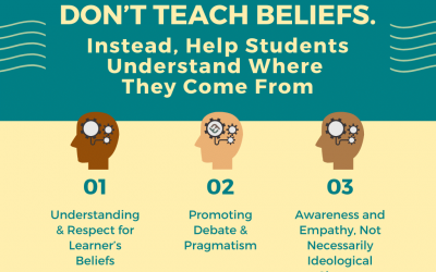 Don't Teach Beliefs. Instead, Help Students Understand Where They Come From
