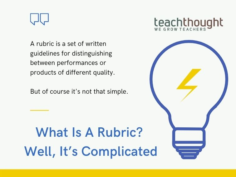 The Problem With Rubrics In Learning