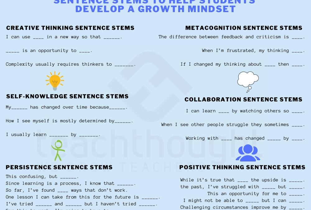 How Can Sentence Stems Help Children Develop A Growth Mindset?
